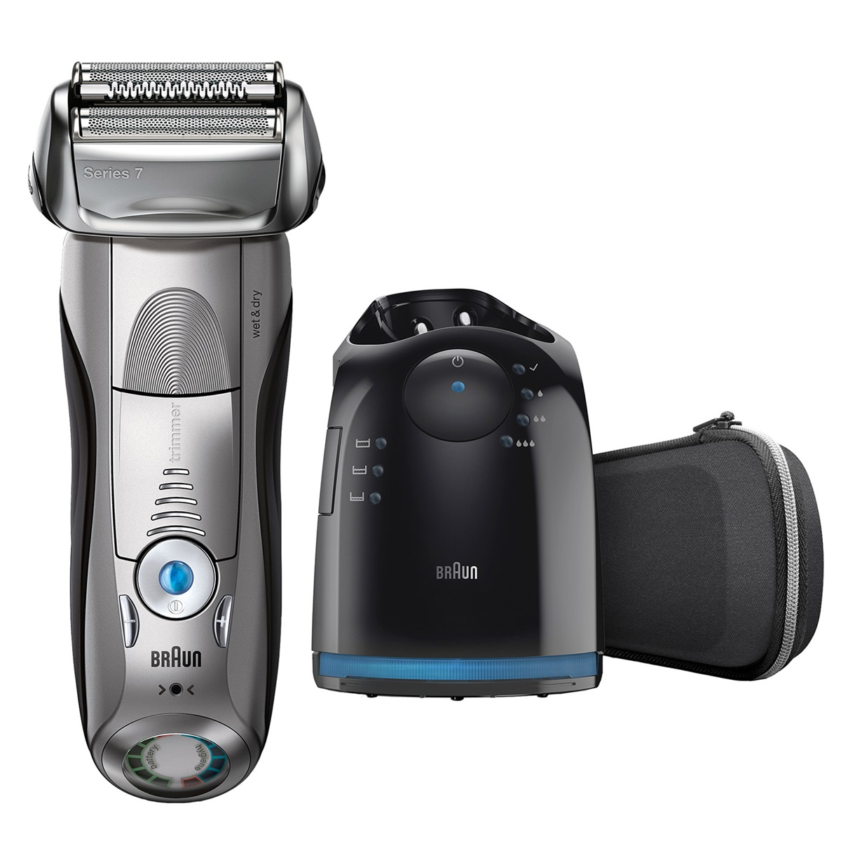 Braun Series 7 7898cc Wet and Dry Men's Electric Foil Shaver - Silver (without Clean & Renew cartridge)