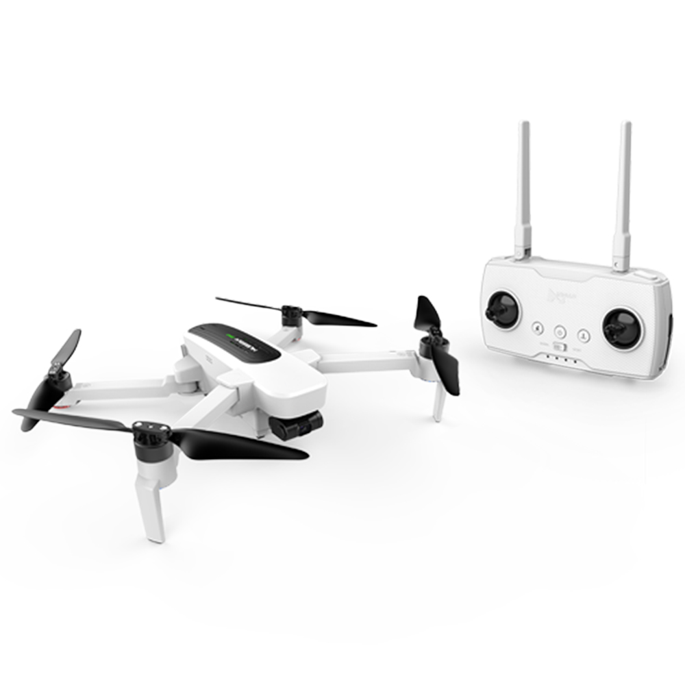Hubsan Zino WIFI FPV GPS 3-Axis Gimbal 4K Camera Quadcopter with Transmitter (RTF) - White